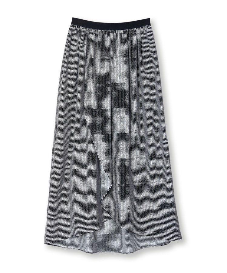 ルーズストライプスカート
