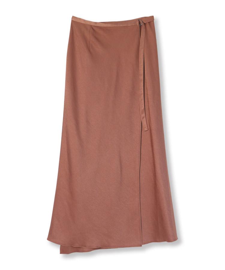 Twill Wrap Long Skirt