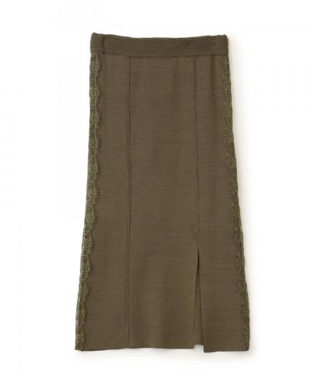 サイドレースニットタイトスカート