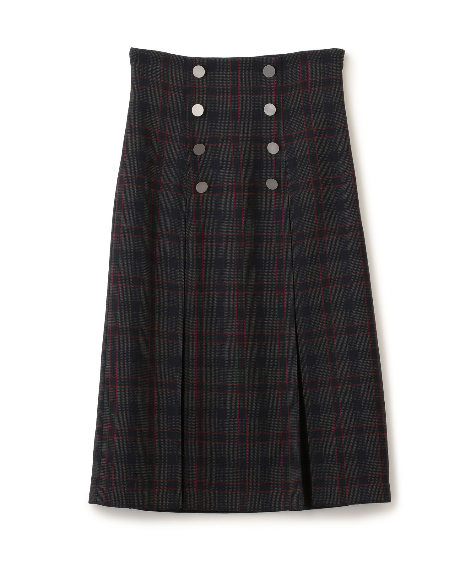 Gun Club Box Pleats Skirt