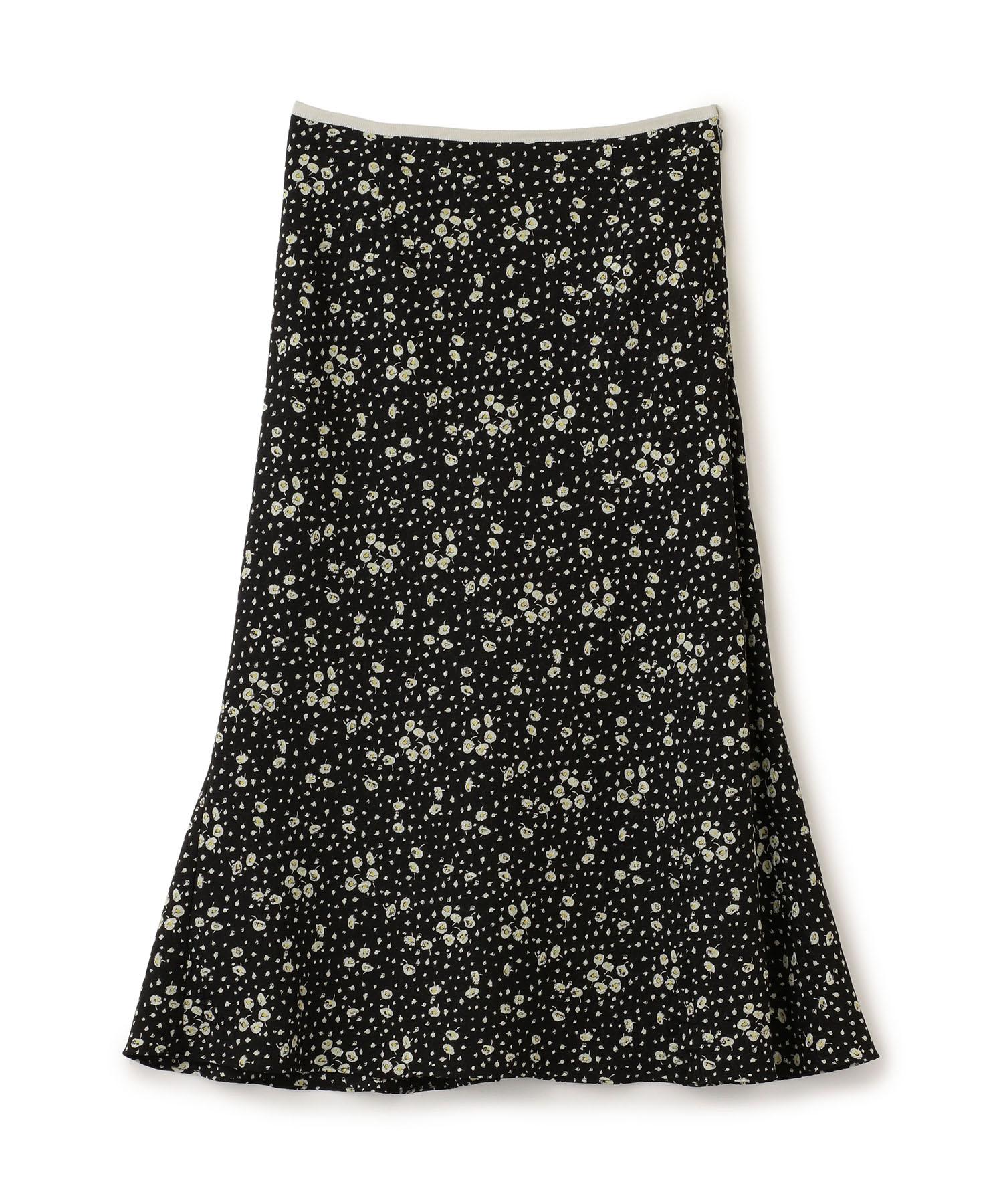 クレープフラワープリントスカート