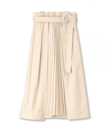 Front Pleats Skirt