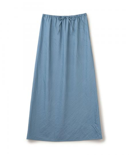 Sheer Satin Long Skirt