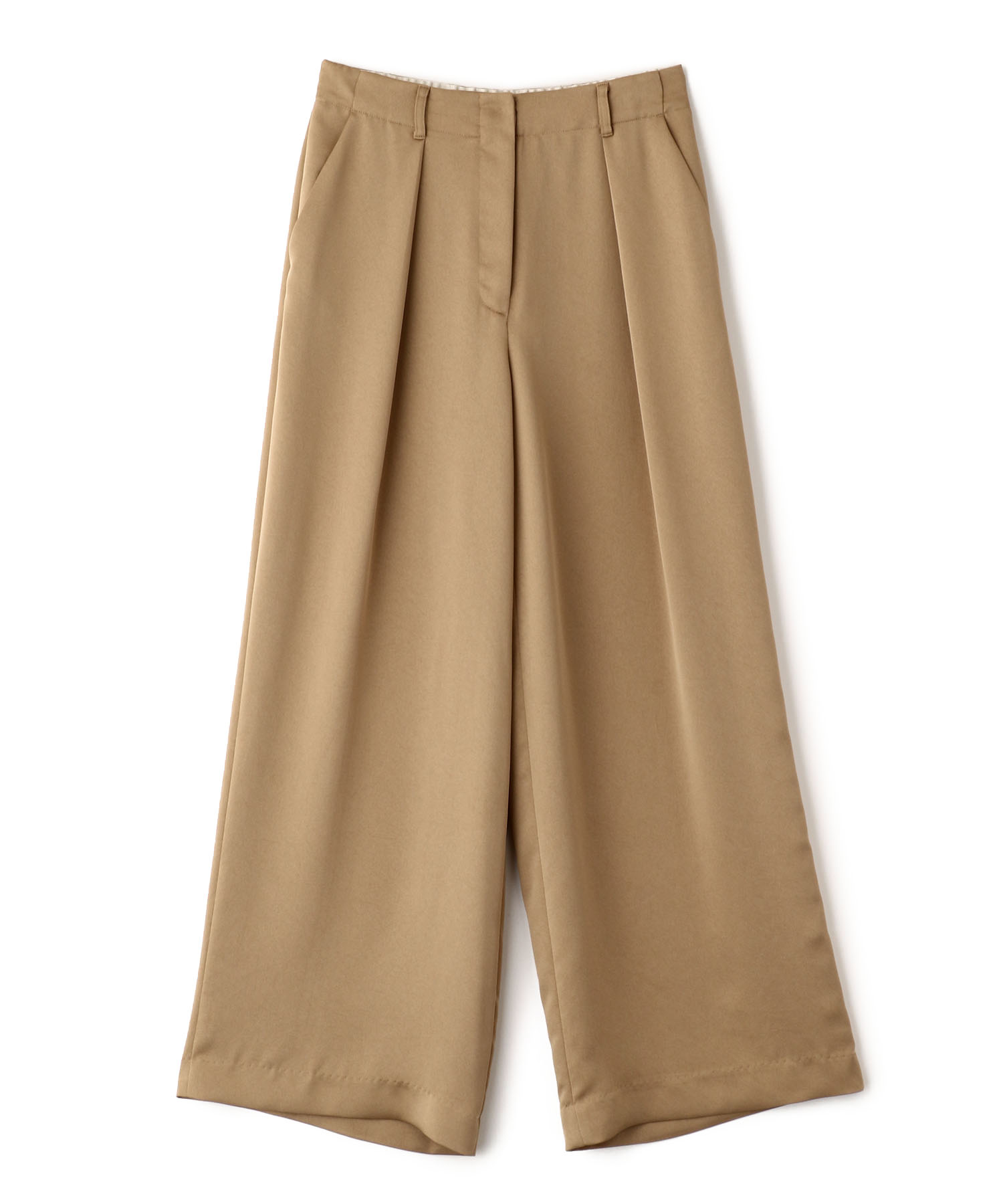 Heavy Satin Tuck Pants