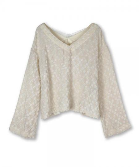 Cut Jacquard Blouse