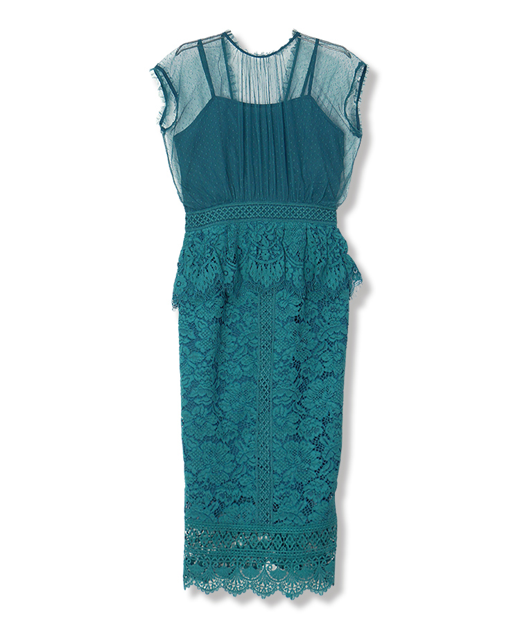 NS Dot Tulle Lace Dress