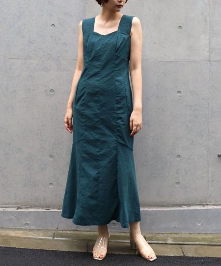 タフタマーメイドドレス