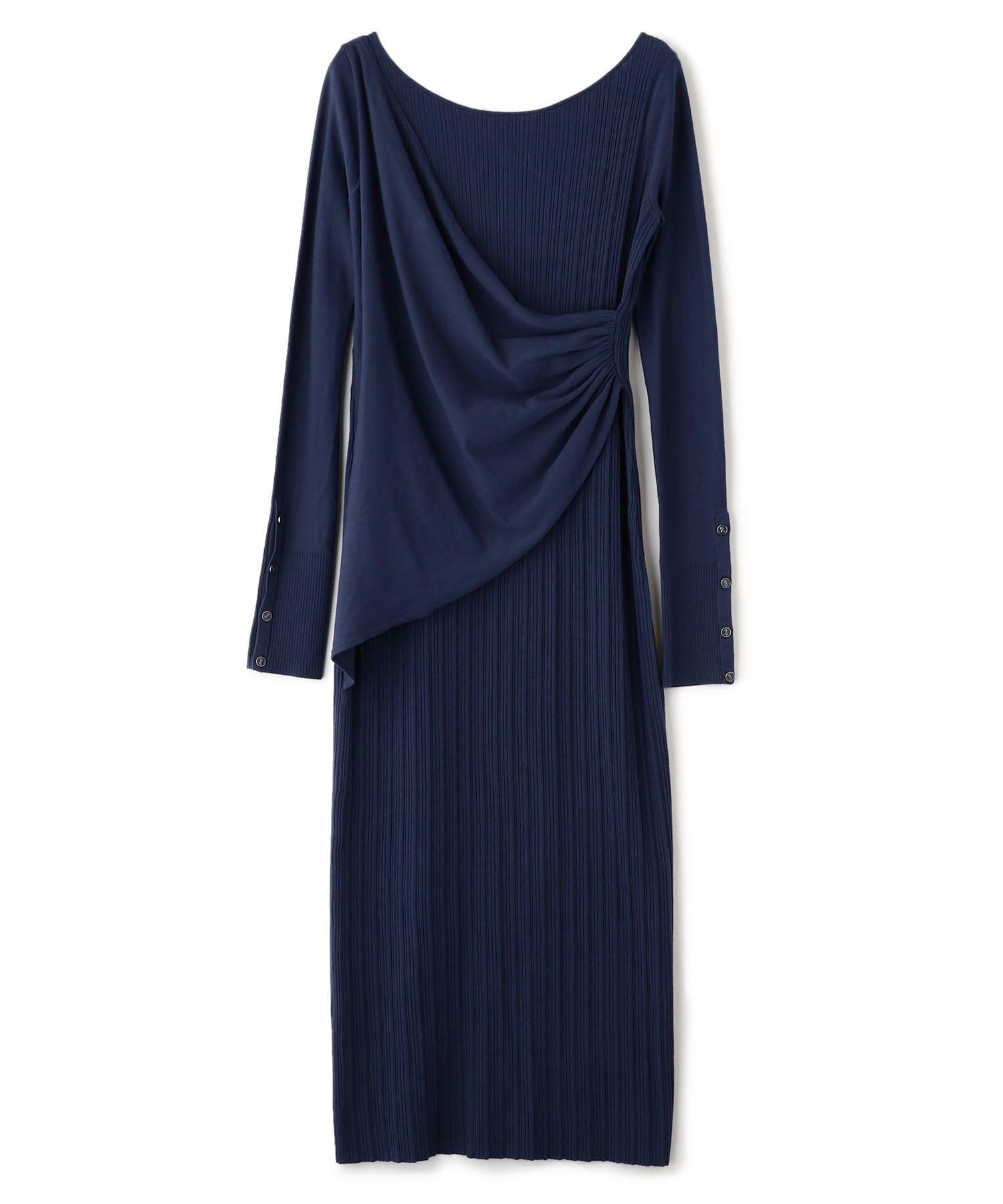 カシュクールニットドレス