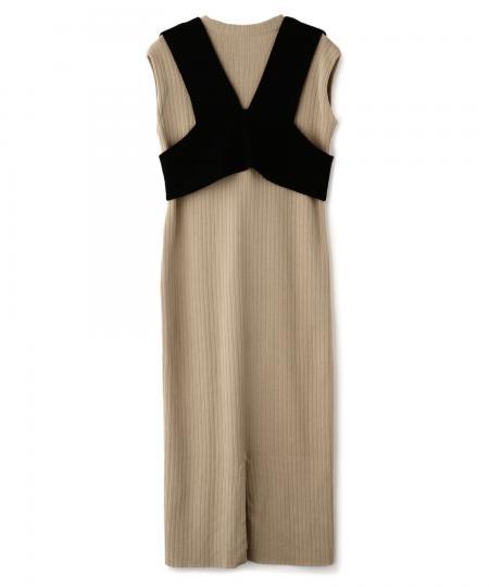 ビスチェニットドレス