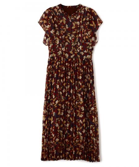 ボタニカルプリーツドレス