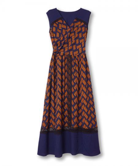 Wave Stripe Print Dress