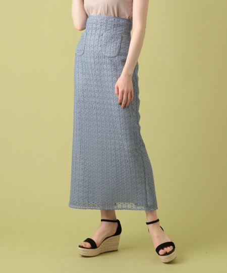 【予約】フラワーレースタイトスカート