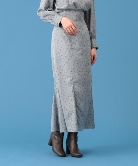 【予約】コスモスプリントマーメイドスカート