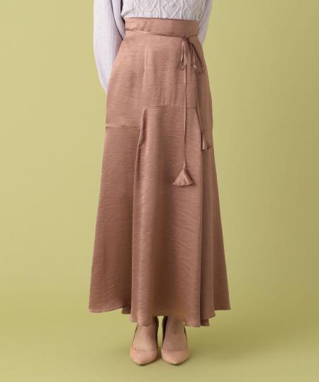 【予約】ヴィンテージサテンスカート