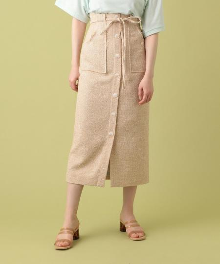 【予約】ラメツイードミディスカート