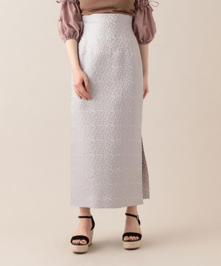 【予約】フローララメジャカードタイトスカート
