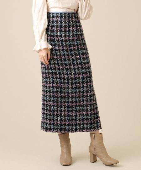 【予約】ロービングチェックタイトスカート
