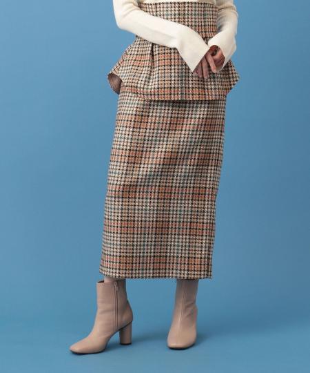 【予約】3wayぺプラムタイトスカート