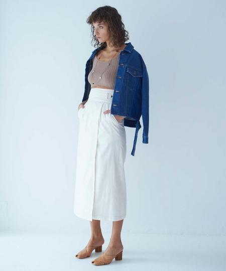 シャイニーラップタイトスカート