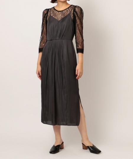 キャミソールレイヤードドレス